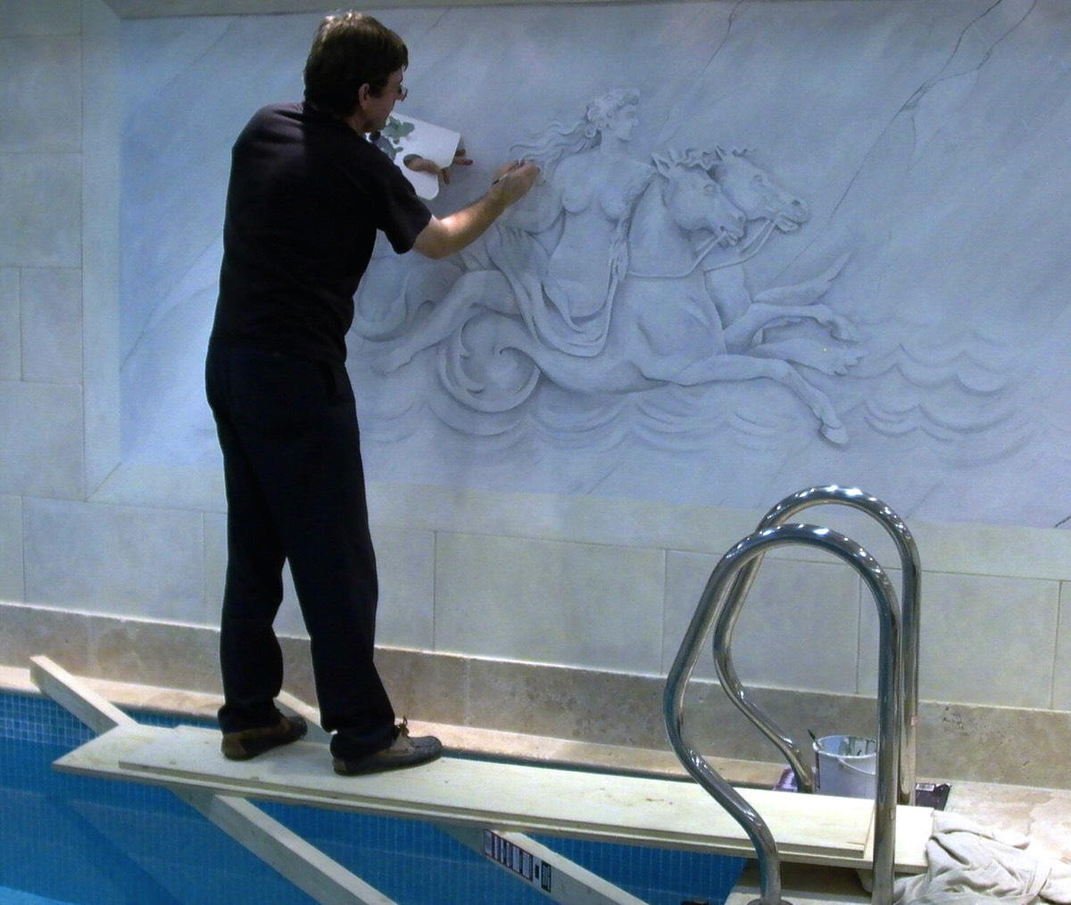 swimming pool mural