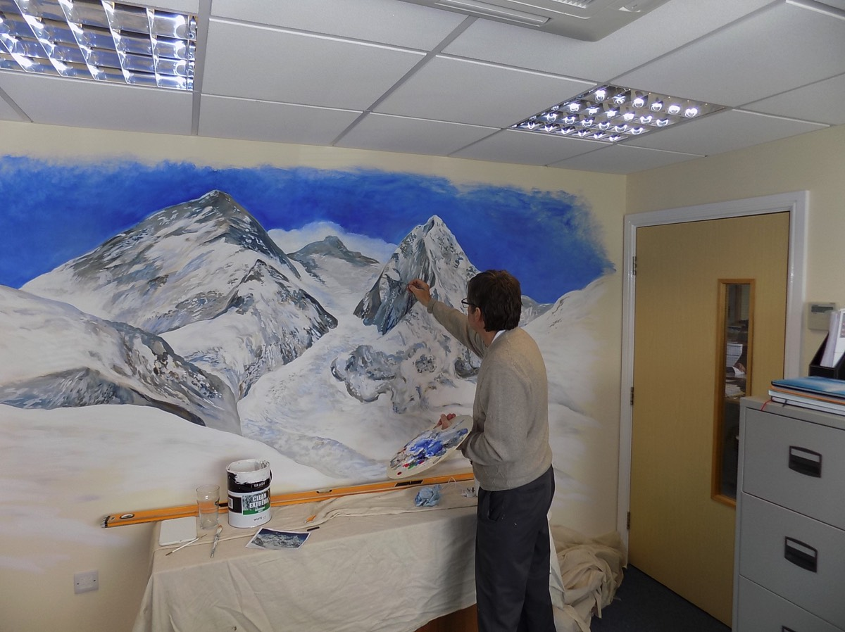everest office feature wall